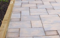 Garden concrete paving